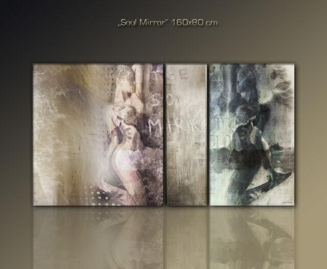 PAUL SINUS -AKT moderne abstrakte Bilder Stilvoll 160x80 cm xxl
