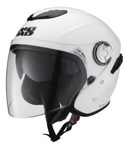 Ixs-Hx-91-Casco-Jet-con-Visor-para-Motocicleta-Scooter-Negro-Blanco-Gris