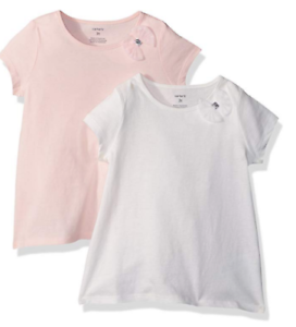 Carter-039-s-Girls-039-2-Pack-Bow-Tees-9-Months-Pink-White