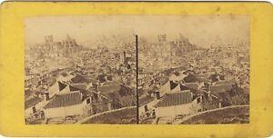 Ville-A-Identificare-Italia-Foto-Stereo-Vintage-Albumina-Ca-1860