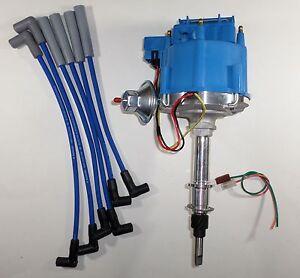 amc jeep inline 6 232 258 6 cylinder hei distributor blue plug wires rh ebay com Jeep CJ7 Engine Wiring Harness Diagram 1983 Jeep Engine Wiring Diagram