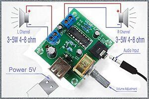 Pm2038-2x5w-Audio-Stereo-Amplificatore-Board-5-VUSB-Alimentatore-volume-regolabile