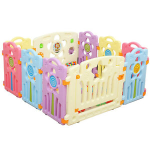 Latest Baby Playpen Indoor Kids Toddler Play Activity Fence Center ...