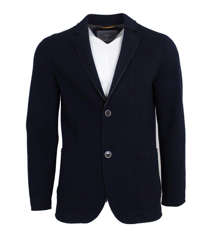 FYNCH-HATTON Herren Sakko Knitted Blazer Farbe Marineblau Gr. 56