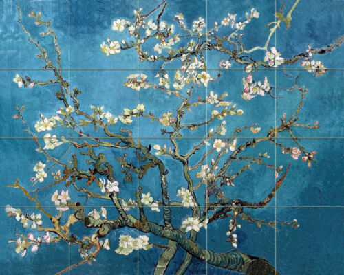 Vincent van Gogh Blossoming Almond Tree Ceramic Mural Backsplash Bath Tile #2158