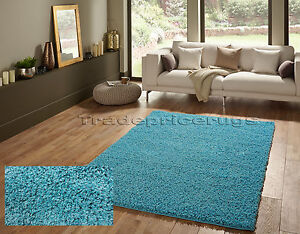 OVERSTOCK-CLEARANCE-SMALL-EXTRA-LARGE-THICK-SHAGGY-SHAG-PILE-TEAL-BLUE-MIX-RUG