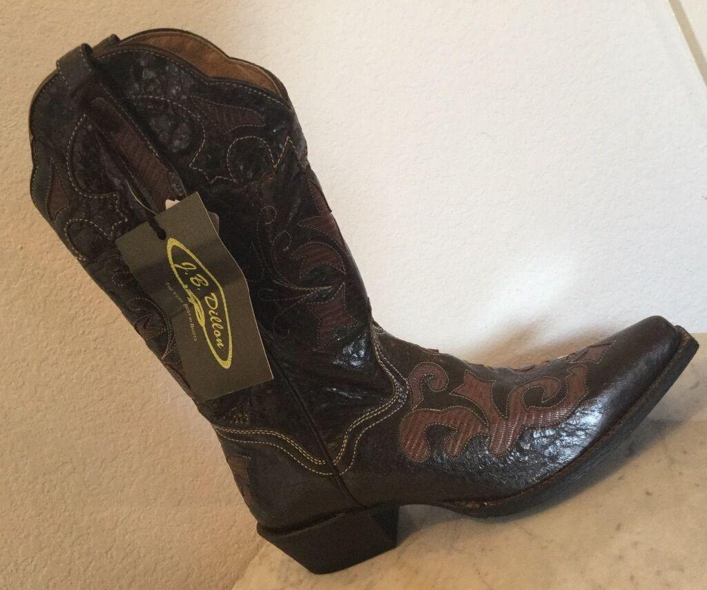 J. B. Dillon Beautiful Brown Leather Western Boots U. S. Women Sz 9.5 B