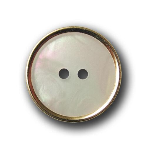 élégante perlmuttweiß Eblouissant boutons avec monture en or 10 délicate 1080g