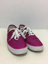 Gotta Flurt Women's Pink Shimmer Flitted Lace Up Fashion Sneakers Sz 8M EUC