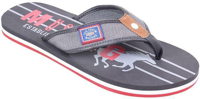 Mustang Play Flip Flops Graphite Big Mens UK Size 12