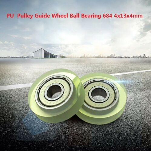PU Guide Pulley Deep Groove Ball Bearing 684 4x13x4mm Bathroom Roller Wheel