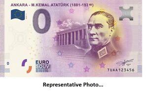 1881-1938 M.Kemal Atatürk 0 Euro Turkiye cumhurbaskani Türkiye