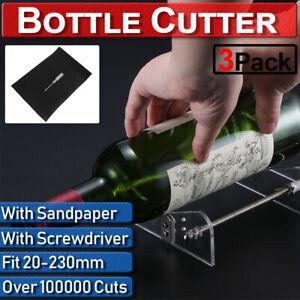 20-230mm Wine Beer Glass Bottle Cutter Machine Jar Cutting Tool Craft DIY Kit UK