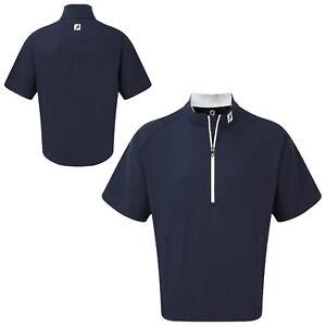 FootJoy Mens Short Sleeve Lightweight Windshirt Packable 1/4 Zip Top Golf Jacket