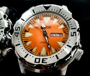 Sea-Monster-Watch-Norsk-London-medal-winners-Diver-Citizen-Movt-Orange