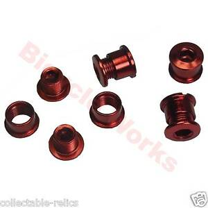 Anodised-Red-Chainring-Bolts-Studs-Chain-Ring-Wheel-Bike-Bicycle-BMX-Track-Fixie