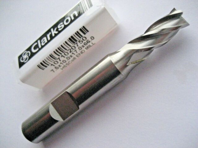 7.5mm HSSCo8 M42 4 FLUTED COBALT END MILL EUROPA TOOL CLARKSON 1071020750  40