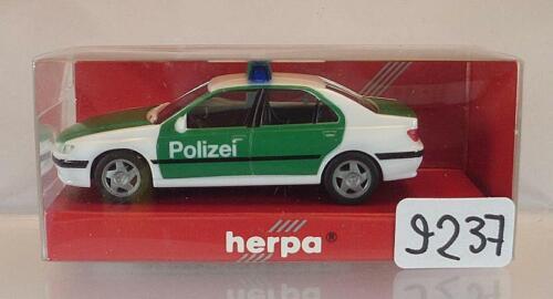 Herpa 1//87 Nr.044035 Peugeot 406 Polizei Saarland OVP #9237