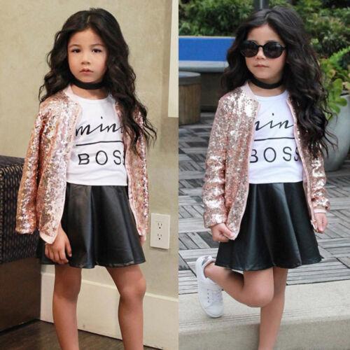 2PCS Kids Toddler Baby Girl Summer Dress Outfits T-shirt Tops+Tutu Skirt Clothes