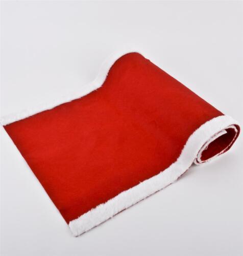 Tischläufer Santa Design Filz 120x45cm rot weiss Weihnachten Xmas