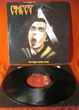 "Cancer* - To The Gory End LP. Rare 12"" Vinyl UK 1990 A1/B1 EX/EX"