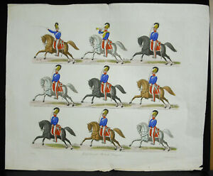 Badische-Dragoons-Grossherzog-Engraving-18th-Militaria-Cavalry-German-Dragon