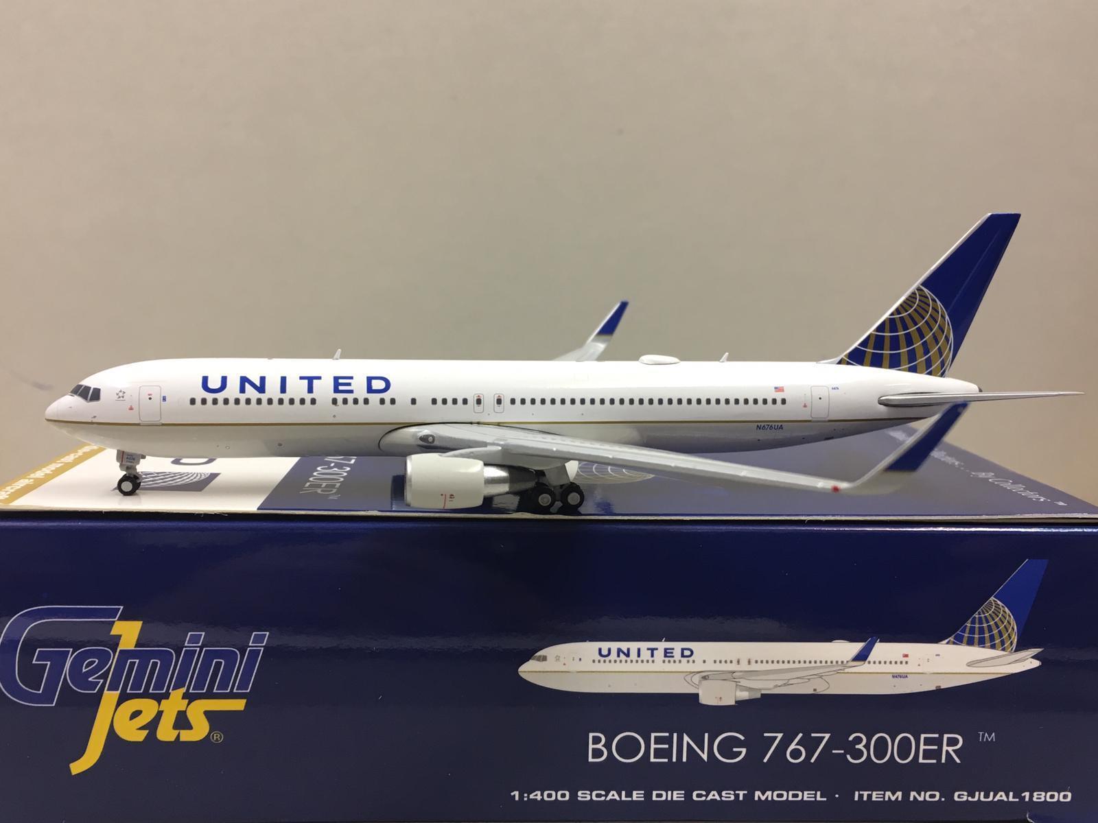 Gemini Jets 1 400 UNITED Airlines BOEING 767-300ER N676UA N676UA N676UA GJUAL1800 81c5b2