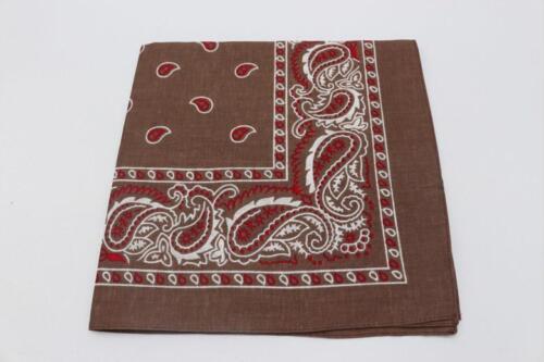 Cotton Bandana Unisex Pocket Square Headband Headscarf Neckerchief Handkerchief