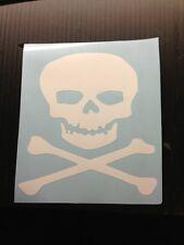 Skull and Cross bones goth pirate sticker decal window