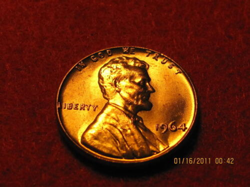 BU P Lincoln  Memorial Cent from Nice Luster 1964
