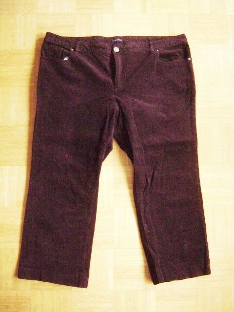 @ Lands' End @ Classic Cords Dark Brown Size 54 Us 2x 22w Fr 56