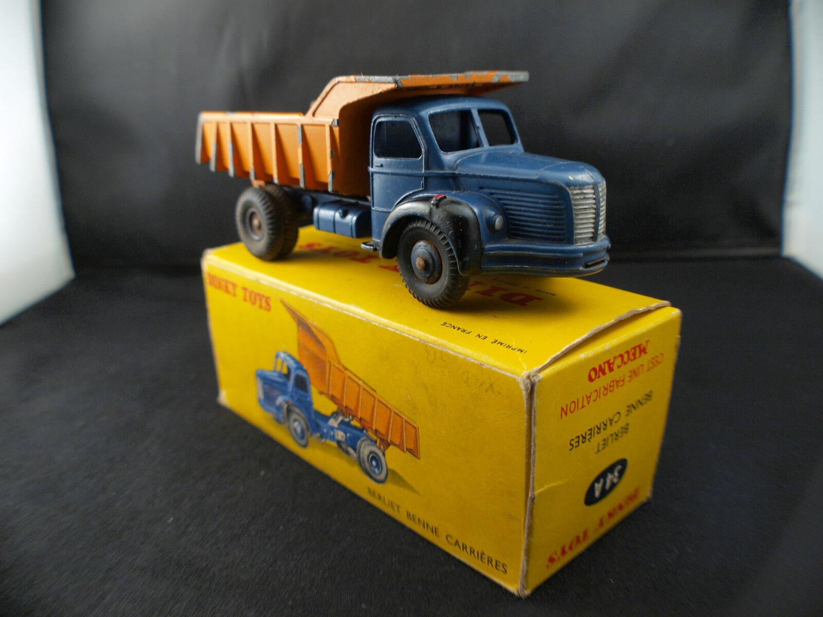 Dinky Toys F n° n° n° 34A  BERLIET camion benne carrières en boite 894cc9