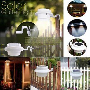 9 LED Solar Powered Light Outdoor Garden Security Wall Fence Gutter Yard Lights