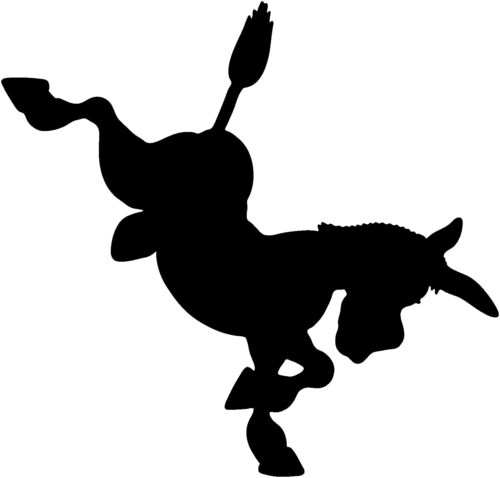 Donkey Decal ST8A Farm Ranch Animals Window Stickers Vinyl Graphic