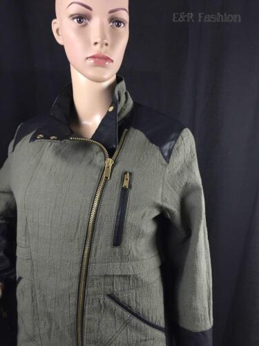 Zara 515 Jacket Blazer 7491 With Faux Detail Biker Ref Coat Style 227 Leather a7qfwZAarW