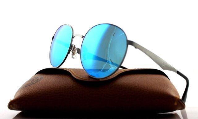dbba3e15d34 NEW Authentic Ray-Ban Phantos Gunmetal Blue Mirror Sunglasses RB 3537 004 55
