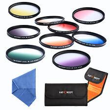 9Pcs 72mm Graduated Colour ND Filter Kit Set For Nikon D7100 D7000 D5000 D3000