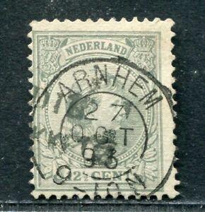 Nederland nvph 38 met kleinrond ARNHEM en stempel NED.INDIE PAKKETB: