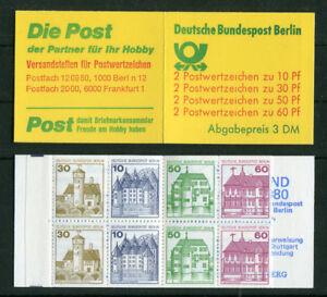 Berlin-Markenheftchen-MH-12-b-oZ-postfrisch-Burgen-u-Schloesser-BuS-booklet-MNH