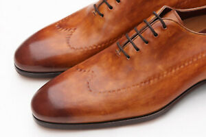 54f2ca68173 Details about Magnanni Seleccion 'Betera' Cognac Brown Hand Made Mens Shoes  Sz 12 - $595