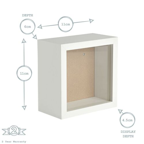 Boîte Cadre photo 4 x 4 Square acrylique Cadre blanc 11cm