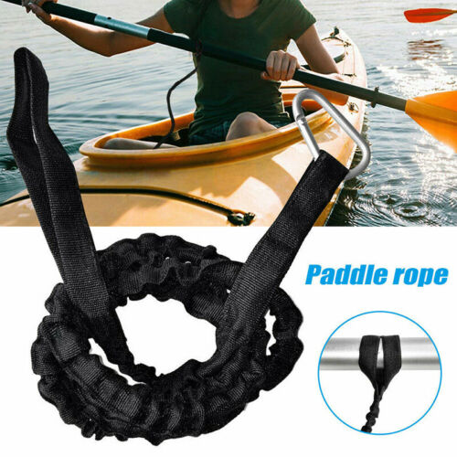 New Kayak Canoe Boat Safety Rod Leash Fishing Rod Lanyard Paddle Leash Carabiner