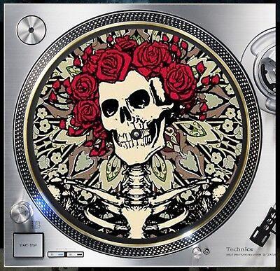 "The Grateful Dead Design1 Slipmat Turntable 12"" Lp Record Player, Dj Audiophile Zorgvuldige Verfprocessen"