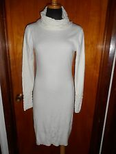 Victoria's Secret Moda International Ivory Cowl Turtleneck Sweater Dress M New