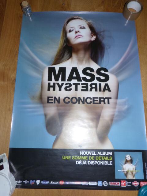 MASS HYSTERIA - Affiche de concert / Tour poster UNE SOMME DE DETAILS !!!