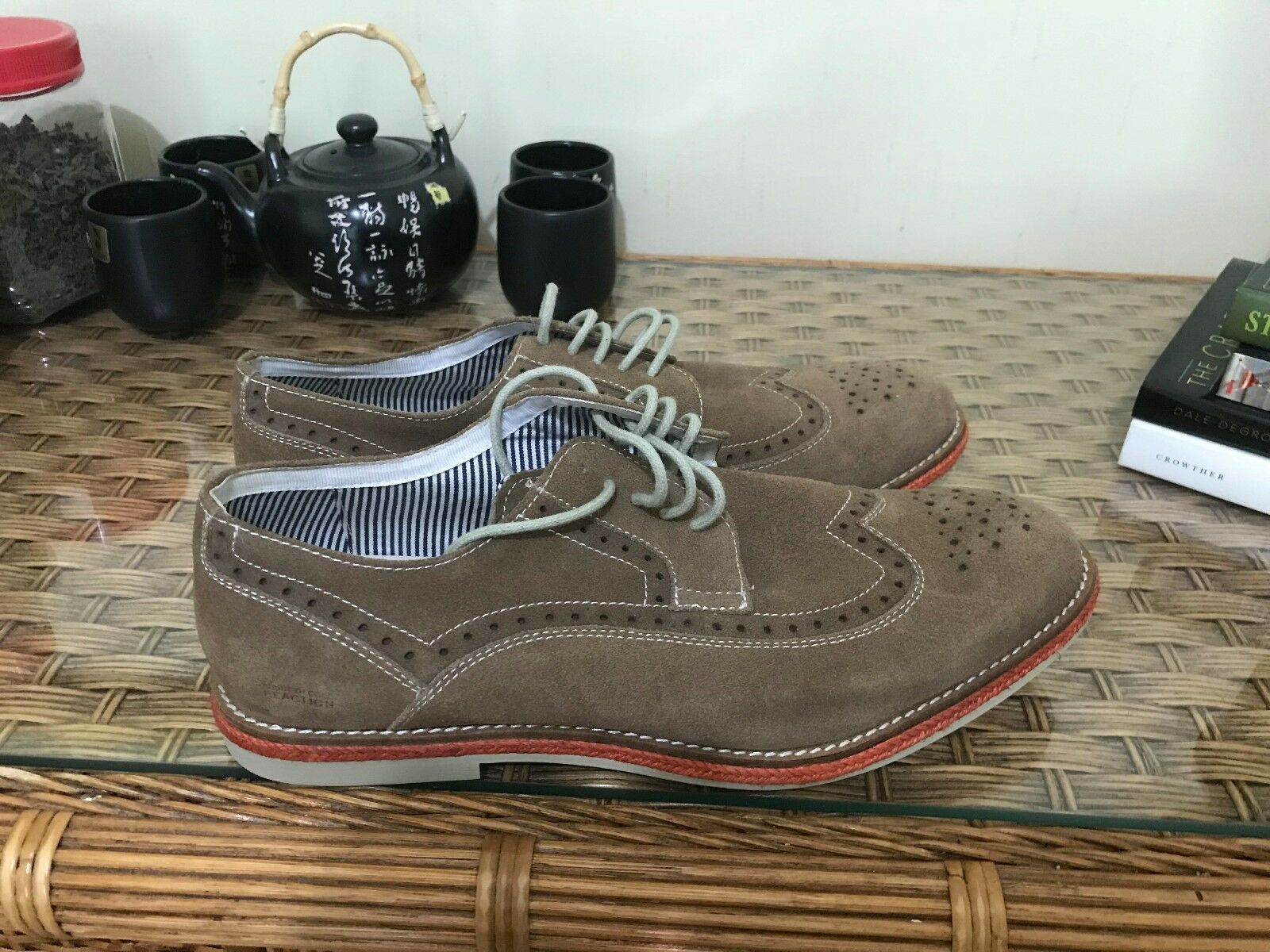 Kenneth Cole Reaction Brown Suede Shoes - Uomo 12 12 12 ed8f73