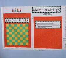 My Checkers Kidz On The Go Games to Play Fabric Panel