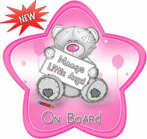 Unpersonalised Baby On Board Car Sign ~ Little Angel Pink