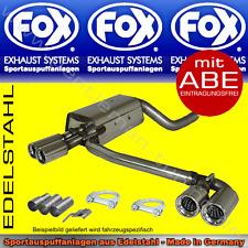 FOX DUPLEX AUSPUFF BMW 320i/323i/328i Limo/Touring/Coupe/Cabrio E46 98-00 4x70