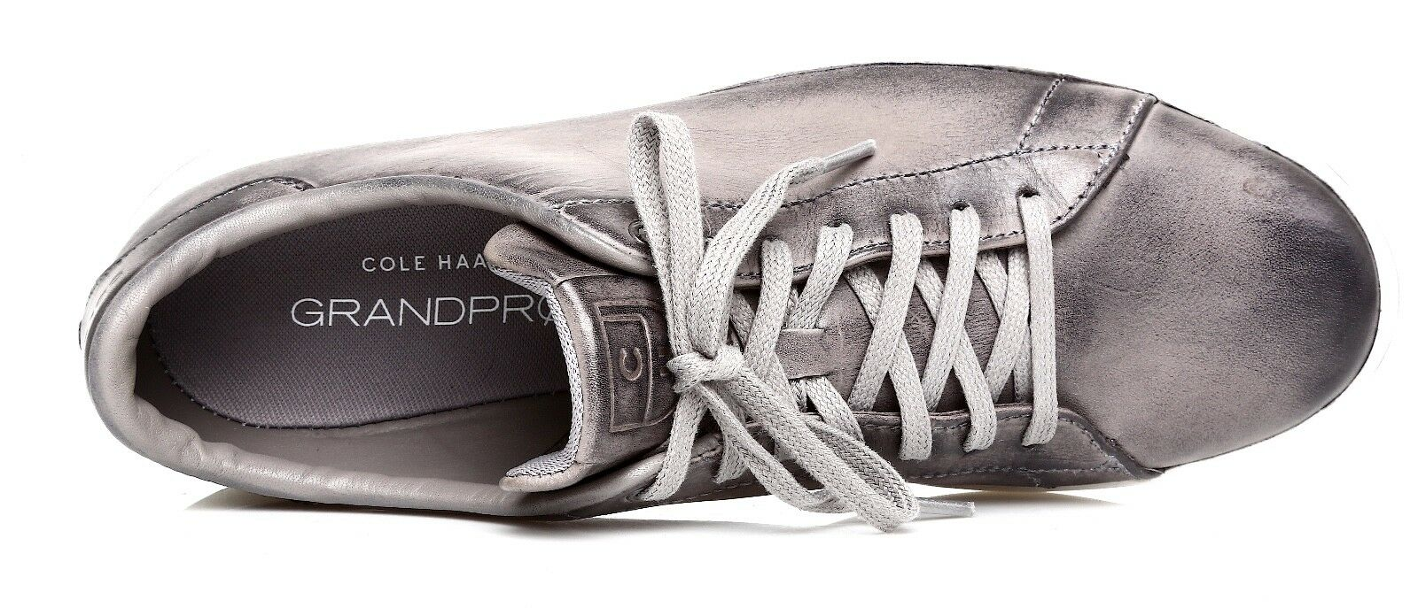 Cole Tennis Haan Uomo Grand Pro Tennis Cole Grey Metallic  Sz 9.5 M 2487 d2cc89